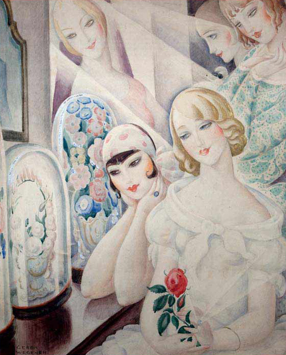 dreamy deco paintings by gerda wegener fur coat no knickers. Black Bedroom Furniture Sets. Home Design Ideas