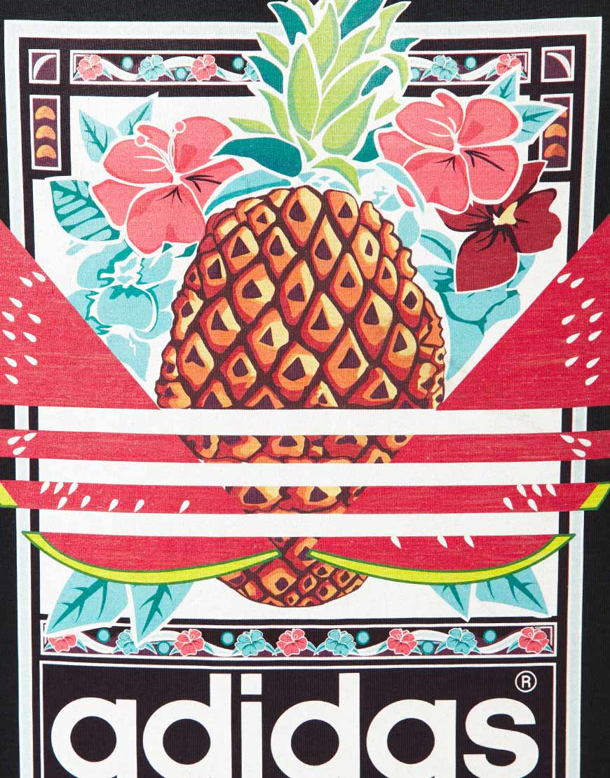 adidas originals fruit graphic t shirt