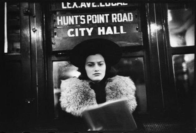 1930s woman on subway