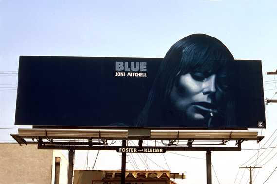 Joni Mitchell, Blue, billboard sunset Strip, circa 1971