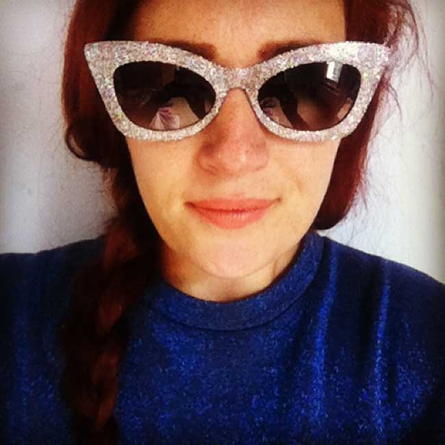 ASOS silver glitter cat eye sunglasses