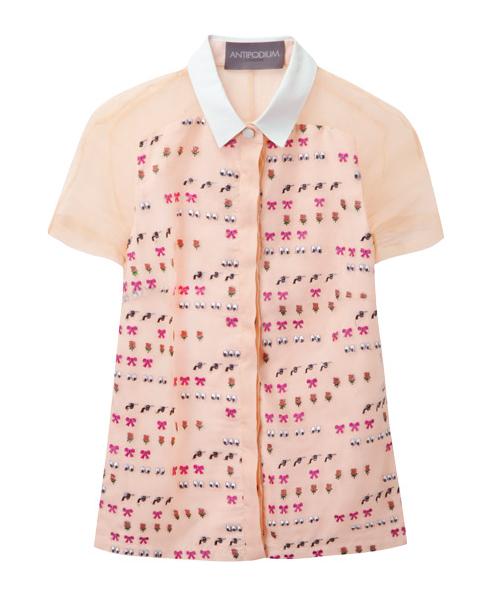 Antipodium XOXO emoji blouse