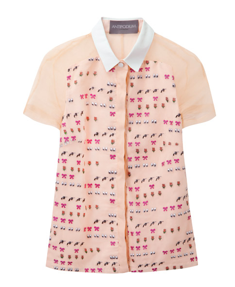 Antipodium XOXO emoji blouse