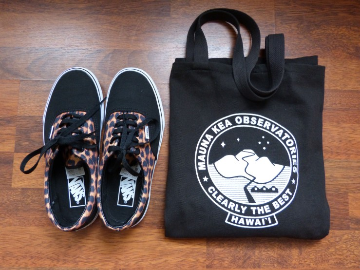 Mauna Kea Clearly the Best tote and Vans Era Leopard Black
