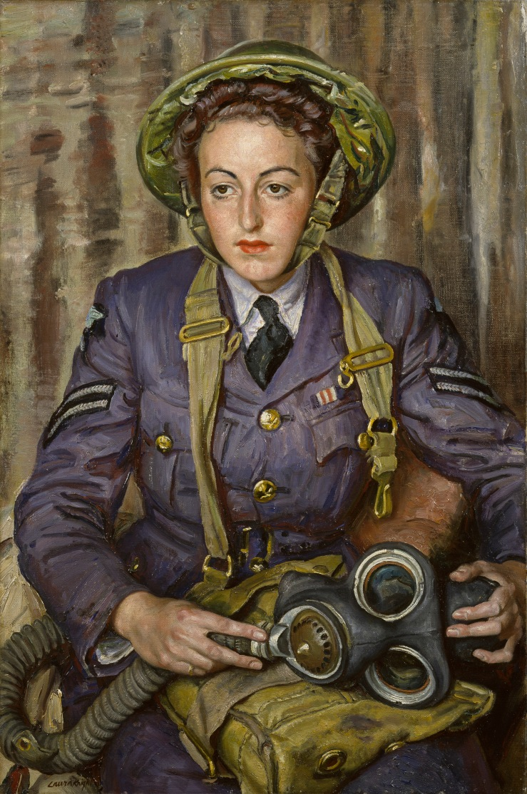 Corporal J. M. Robins, by Dame Laura Knight, 1941