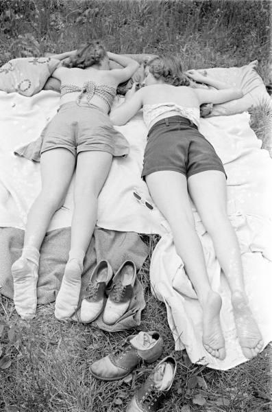 1930s sunbathers