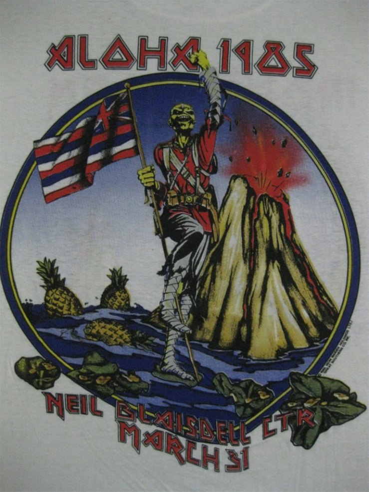 iron maiden hawaii shirt 1985