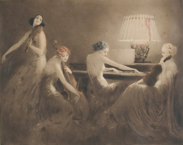 Melody Hour by Louis Icart, 1934
