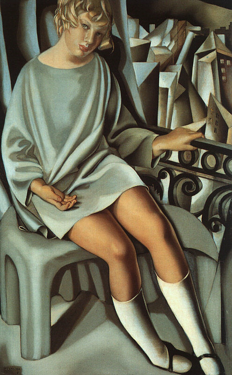 Kizette on the Balcony by Tamara de Lempicka