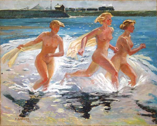Running Girls by Aleksandr Deyneka, 1941